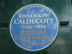 Photo of Randolph Caldecott blue plaque