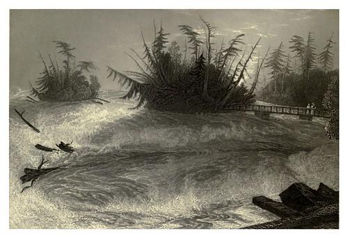 008-Los rapidos por encima de las catararatas del Niagara 1840