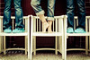 Blue Bench Monday (Pink Pixel Photography (f.k.a. Sunny)) Tags: hmb girlsjustwannahavefun sigma1770mm canoneos400d happymondayblues benchmonday atanindoorswimmingpool sunnyilovethenoteskiki iwanttoticklethenakedfeettoosmile hatwoinonetodayd
