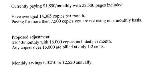 Copier Savings by you.