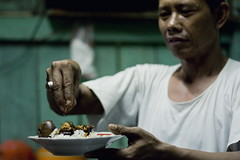 Nasi Uduk Semur Jengkol (anjur) Tags: street people food canon indonesia 50mm restaurant jakarta meal f18 ef ricecake nasiuduk babat betawi semur kuliner rawabelong jengkol