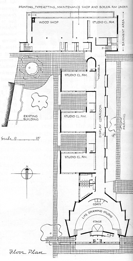 Kansas City Art Institute - Art School - Plan by Runnells Clark Waugh and Matsumoto Architects