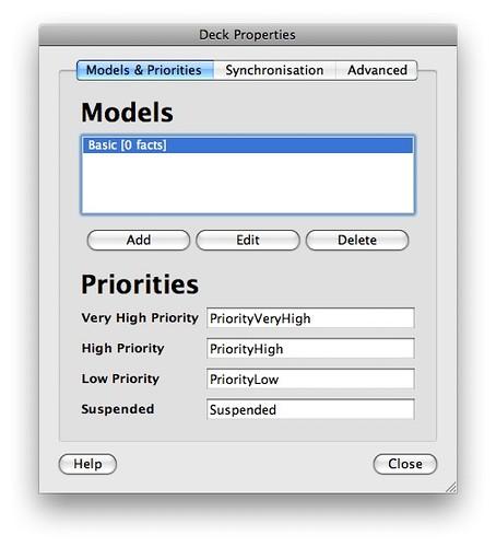 gestion des modèles
