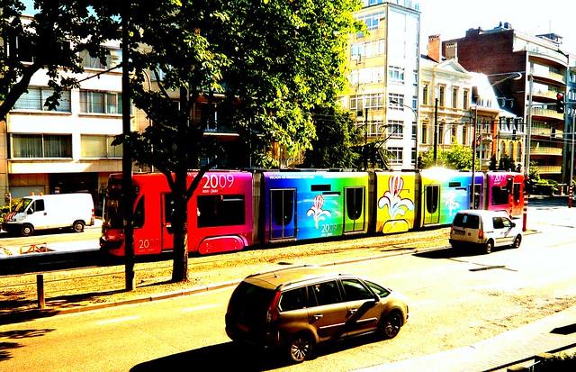 tram de colores