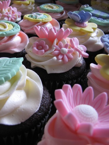 Whimsical Spring Cupcakes