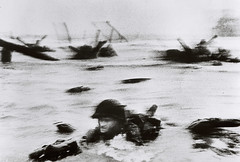D-Day: June 6, 1944: Allied Invasion of Normandy [photo by Robert Capa] (Templar1307) Tags: france nazi wwii overlord ww2 omaha neptune normandy dday 1944 robertcapa june6 65thanniversary june61944
