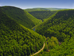 [フリー画像] [自然風景] [山の風景] [道の風景] [緑色/グリーン] [アメリカ風景]      [フリー素材]