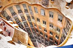 Internal Beauty (Faddoush) Tags: barcelona beauty architecture la casa spain nikon mila gaudi environment hdr pedrera internal faddoush