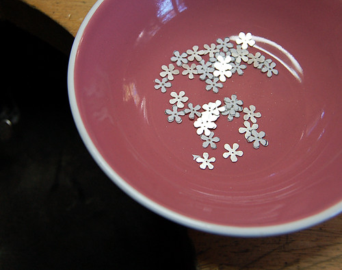 Sterling silver blossoms