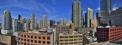 (Kevin Dickert) Tags: city urban panorama chicago skyline architecture buildings downtown cityscape skyscrapers towers panoramic canon5d hdr highdynamicrange merchandisemart highrises density rivernorth worldwidepanorama urbanity grandplaza canonef1740mmf4l abovestreetlevel 300northlasalle iamhydrogen kevindickert