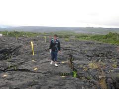 Paul along the lava field
