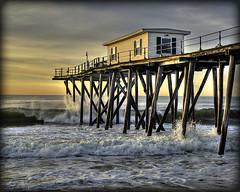 Morning light (dog ma) Tags: ocean sunrise pier waves nj belmar hdr fiddy dogma sidelit nikkor50mm flickrchallengewinner nikond700 obramaestra thepinnaclehof tphofweek1