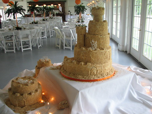 Sandcastle Wedding Cake. Sand Castle Cake