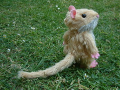 it aint over here ..... (RaggyRat) Tags: handmade alice mohair handsewn wonderland teaparty jointed dormouse