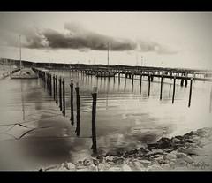 The Old Docks (mescon) Tags: old göteborg gothenburg panasonic desaturated distillery vignette desaturate lucisart lucis kile björlandakile torslanda 1xp blackwhitephotos vinjett vinjettering fz18 björlanda