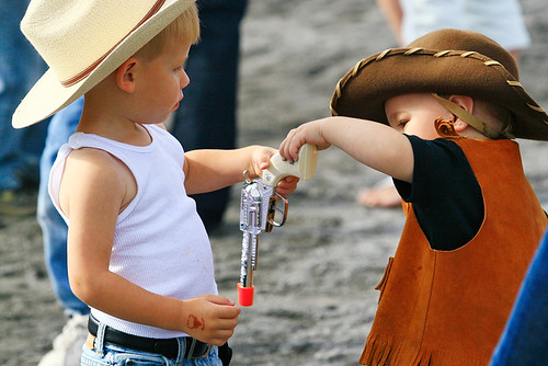 Every little boy wants to be a cowboy. Dont tell me you never pretended to be a cowboy when you were a youngun.