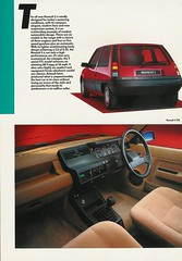 The all new Renault 5 (gingerbeardman) Tags: car 5 five literature renault 80s material leaflet 1980s brochure 1985 promotional 85 hatchback r5