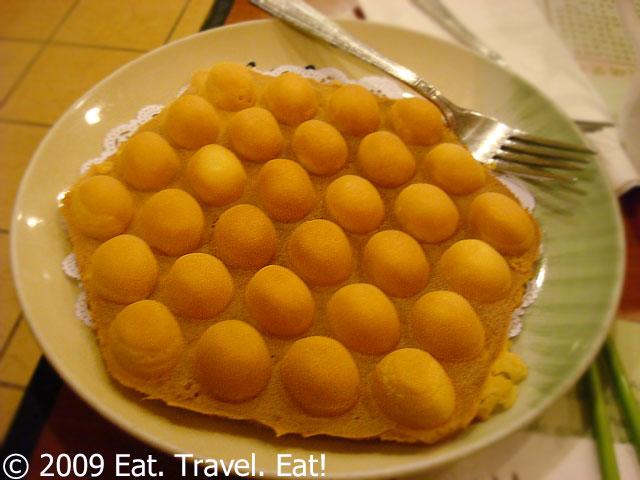 the machine makes hong kong egg waffles a favorite dessert