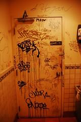 Bathroom Door (Knucklehead01) Tags: door boston bathroom graffiti brighton tags marker brookline