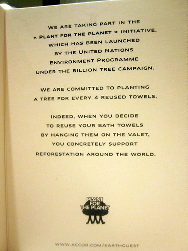 sofitel csr - plant a tree for every 4 reused towels