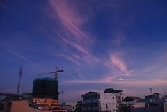 Bnh minh (Mai.Nemesis) Tags: city travel blue sky cloud house river dawn nikon view delta vietnam mekong cantho d80