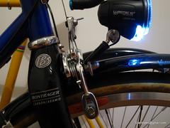 Dynamo lighting setup - Daytime running lights / standlight on (ah_blake) Tags: light la 853 steel fork dia mount bm carbon iq salsa dynamo raza cyo bontrager 650b compe centerpull centrepull