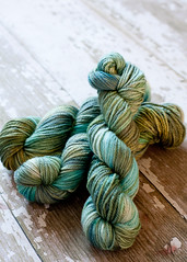 ' Sea foam ' Dyed on Canadian BFL aran