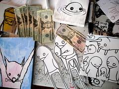 little monies (starheadboy) Tags: money paintings starheadboy