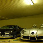 Bugatti Veyron Grand Sport Grey Carbon and SLR Stirling Moss