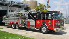 Orlando Fire Dept Tower 10 (West Florida Fire Photography) Tags: engine paramedic ofd sutphen towerladder engine8 towertruck tower10 cityoforlando orlandofiredept floridafireapparatusstations photocropped1920x1080