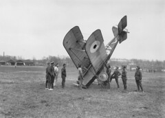 An accident on Savy Aerodrome during the Germa...