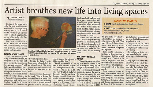 Humble Observer - Artist Breathes New Life - January 14, 2009