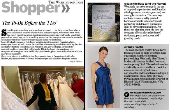 Smock letterpress wedding invitations in the Washington Post!