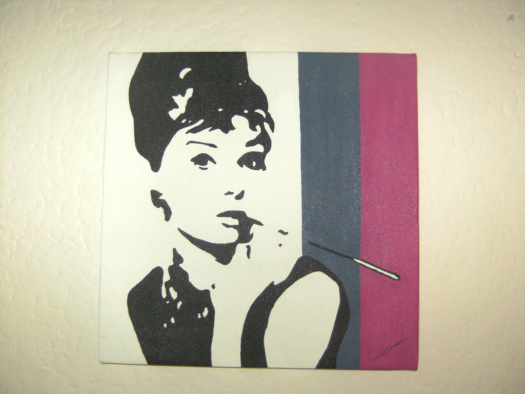 The world 39 s best photos of popart and scarface flickr - Cuadros audrey hepburn ...