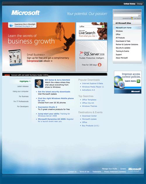 Websites We Visit: How They Look Like 10 Years Ago - Hongkiat