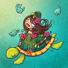 Tortuga, pattern IF (Anita Mejia) Tags: illustration myth ilustracion iroquois anitamejia