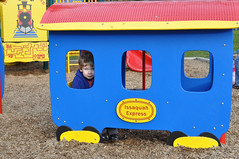 All aboard (Jeff Youngstrom) Tags: boy playground nathan issaquah memorialfield