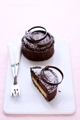 chocolate and meyer lemon tart (cannelle-vanille) Tags: cookbook tarts chocolatetart johnnyiuzzini meyerlemoncurd chocolatechiboust