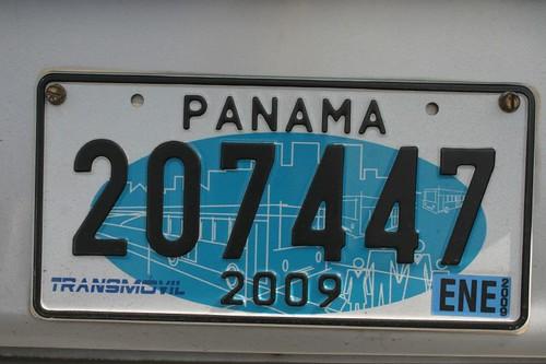 Licence plate, Panama.