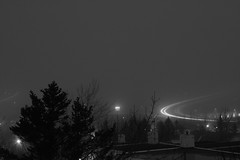 (Thor F.) Tags: longexposure reflection fog iceland sland afterdark lightstream oka langgtta