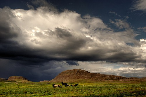 Hestastóð (just before the rain)  - HDR
