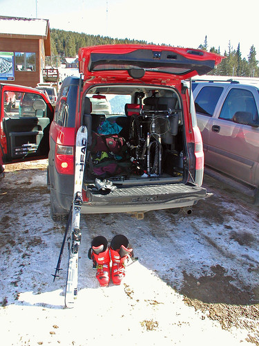 Unloading for the day at Terry Peak...