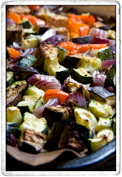 :: Mediterranean Roast Vegetables with Bulgar Wheat
