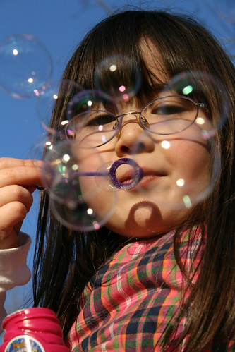 Beautiful bubble girl