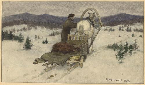 025- Vista de las llanuras siberianas en los alrededores de Krasnoiarsk-Boris Smirnov 1904