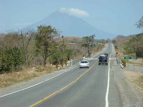 The road from San Juan del Sur to San Jorge and Isla Ometepe...