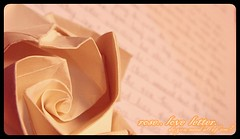 rose and love letter