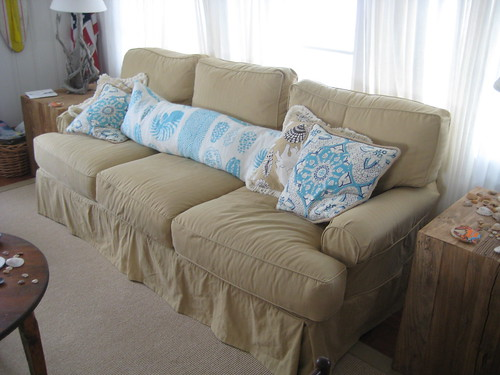 Custom Slipcover for a Beach Home