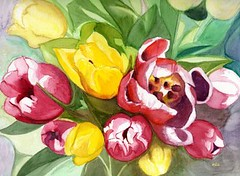 Tulipes par ml.aquarelle