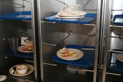the only trays at St. Joseph's College are in the dish area.